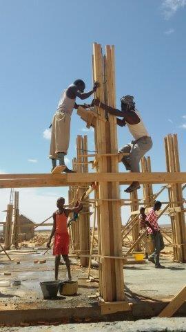 Jongerencentrum in opbouw